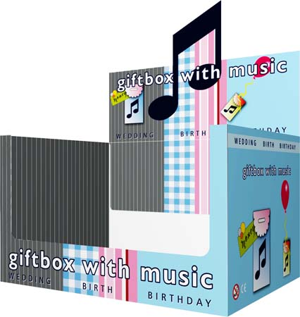 music giftbox display