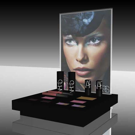 nars cosmetica display